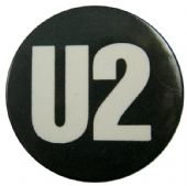 U2 - 'Name Black & White' 32mm Badge